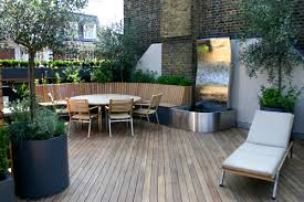 contemporary roof terrace in baker street marylebone designed by