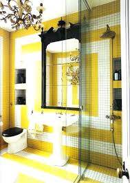 Grey And Yellow Bathroom Ideas Yellow Bathroom Ideas Bright Yellow Black And What A Combo Yellow