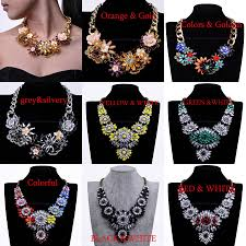 big crystal statement necklace images Hot selling fashion mixed style chain crystal flower bib big jpg