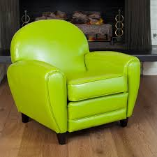 Knight Home Decor David Lime Green Leather Club Chair By Christopher Knight Home