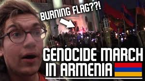 Armenian Memes - caught myself in a genocide march yerevan armenia 2017 youtube