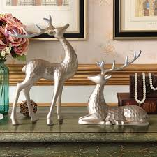 couple elk desktop ornament creative resin deer couple for