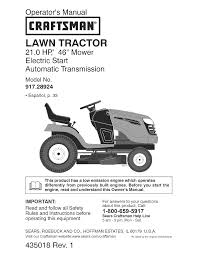 Crafstman by Craftsman Lawn Mower 917 289244 User Guide Manualsonline Com