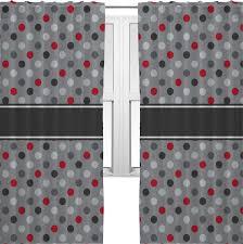 Polka Dot Curtains Gray Polka Dots Curtains 2 Panels Per Set Personalized