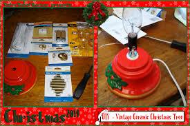 ceramic christmas tree light kit diy vintage ceramic christmas tree