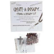 rosary kits string a rosary kit wood the catholic company