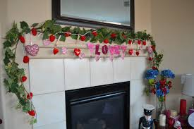 lovely valentine mantel decoration showcasing beauteous fireplace