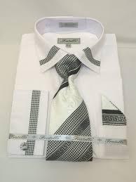 fratello frv4109p2 white men u0027s french cuff dress shirt 60 cotton