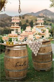 shabby chic wedding ranch wedding in gold and pink dessert table shabby and