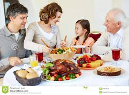 Thanksgiving Dinner Table by Family Having Thanksgiving Dinner Stock Photos Images U0026 Pictures
