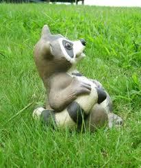 Outdoor Decor Statues Outdoor Garden Decor Statues Photograph Sitting Raccoon An