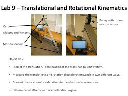 lab 9 translational and rotational kinematics motion sensors