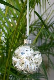 how to make a diy wedding invitation ornament christmas ornament