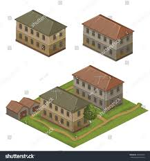 two old twostory house vector illustration stock vector 406405420