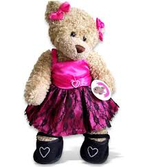 teddy clothes clothes pink prom dress 2 bows