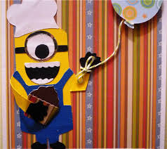 project center minion birthday card