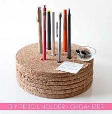 Pencil Holders For Desks 40 Fun Diys For Your Desk Diy Projects For Teens