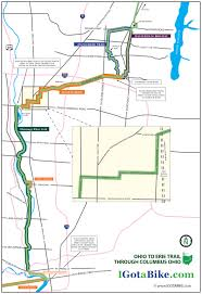 Mohican State Park Map by Ohio To Erie Trail Through Columbus With Map South To North