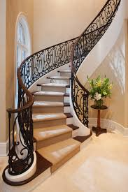 custom staircase design for a french manor beautiful
