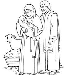 Holy Family Coloring Page holy family catholic coloring page right click to image