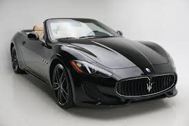 maserati gt black 2017 maserati granturismo gt convertible stock clt34746 for sale