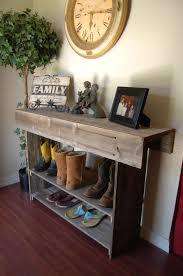 Rustic Cabin Home Decor Large Console Wood Table Large Entry Table Recycled