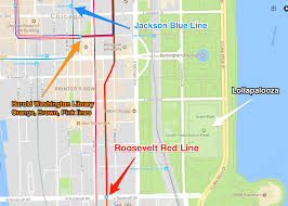Downtown Chicago Map by Lollapalooza 2017 How To Get To And Around Grant Park Curbed