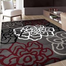 Buy Area Rug Rugshop Contemporary Modern Floral Flowers Area Rug 5