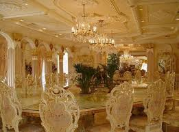 home design gold luxurious and modern design dinning room of golden house interior