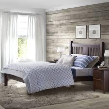 Wood Bed Frames And Headboards by Shaker Bedroom Furniture Style Platform Bed Varnished Wooden Bed