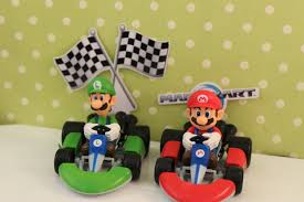 mario cake toppers mario brothers racing cake kit supplies cake toppers