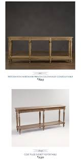 Small Foyer Table by Copy Cat Chic Find Restoration Hardware French Colonnade Console