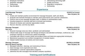 Sample Resume For Massage Therapist by Massachusetts Massage Therapist Resumes Samples Reentrycorps