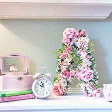 craft for home decor diy floral monogram hometalk