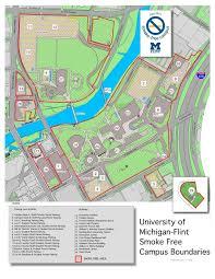 Map Of University Of Michigan University Of Michigan Flint Publicizes Smoke Free Boundaries