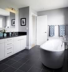 brilliant dark tile floor kitchen modern with exposed brick dark