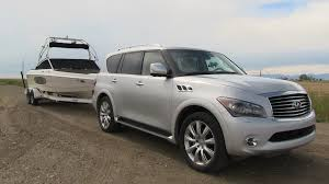 compare infiniti qx56 and lexus lx 570 2012 infiniti qx56 floats like a butterfly tows like a beast