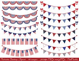 Flag Banner Clip Art American Flag Bunting Clipart 40