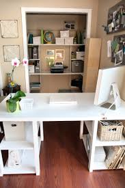 Diy Door Desk Diy Home Office Desk From An Door Shelterness