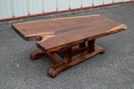 live edge walnut coffee table live edge walnut coffee table with tapered base corey morgan