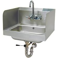 restaurant hand washing sink advance tabco 7 ps 40 hand sink with side splash wall mount