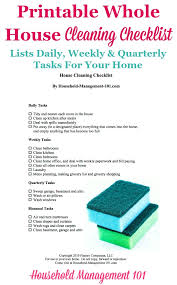 house checklist printable whole house cleaning checklist how to keep your home