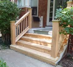 wood porch with stone steps home design ideas