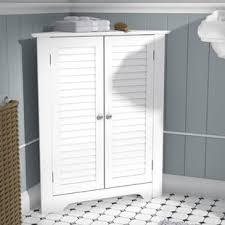 Bathroom Floor Cabinet Antique White Corner Cabinet Wayfair