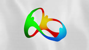Olimpics Flag Loopable Rio 2016 Summer Olympic Games Flag Waving In The Wind