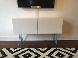 ikea legs hack besta shelf with doors ikea hack with hairpin legs in upper