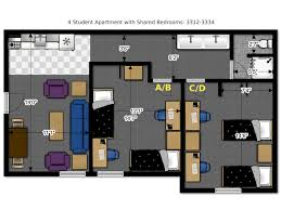 Multi Unit Apartment Floor Plans Floor Plans Office Of Residence Life University Of Wisconsin