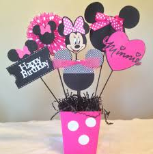 Centerpieces For Minnie Mouse Party by Minnie Mouse Happy Birthday Centerpieces Minnie Mouse