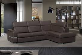 Italian Sectional Sofas by Contemporary Italian Sectional Sofa In Dark Brown Stitched Leather
