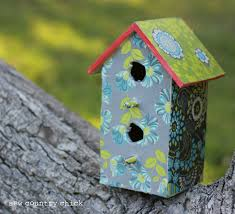 mod podge a birdhouse spring crafts with kids